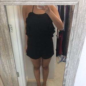 Black Haltered Romper